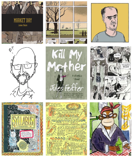 Jules Feiffer, Lynda Barry and James Sturm Announced as First SPX 2014 Guests